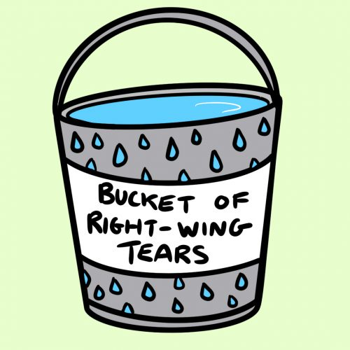 Bucket Of Right-Wing Tears Glossy Sticker